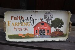 FaithFamilyFarmingFriends Bricka Large