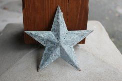 Antique Zinc Barn Star SML